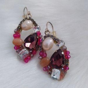 Nwt Gemstone Drop Earrings